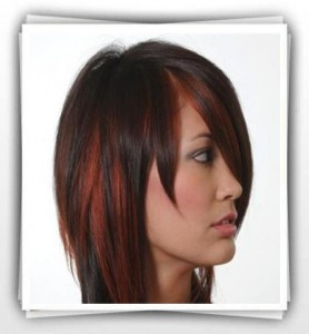 مدل رنگ موی کاکاىؤیی وهایلایت مسی