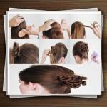 آموزش تصویری مدل شینیون موی اسپرت زنانه و دخترانه