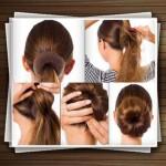 مدل شینیون موی زنانه به روش کاملا ساده